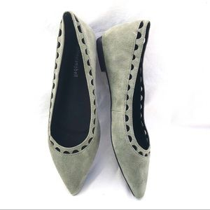 Jeffrey Campbell suede ballet flat pointed toe